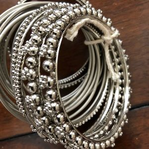 Jewelry - Set of 18 bangles with intricate unique design